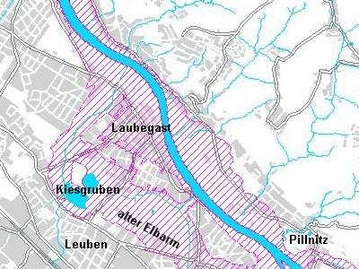 hochwasser 2002 dresden karte Hochwasser in Dresden